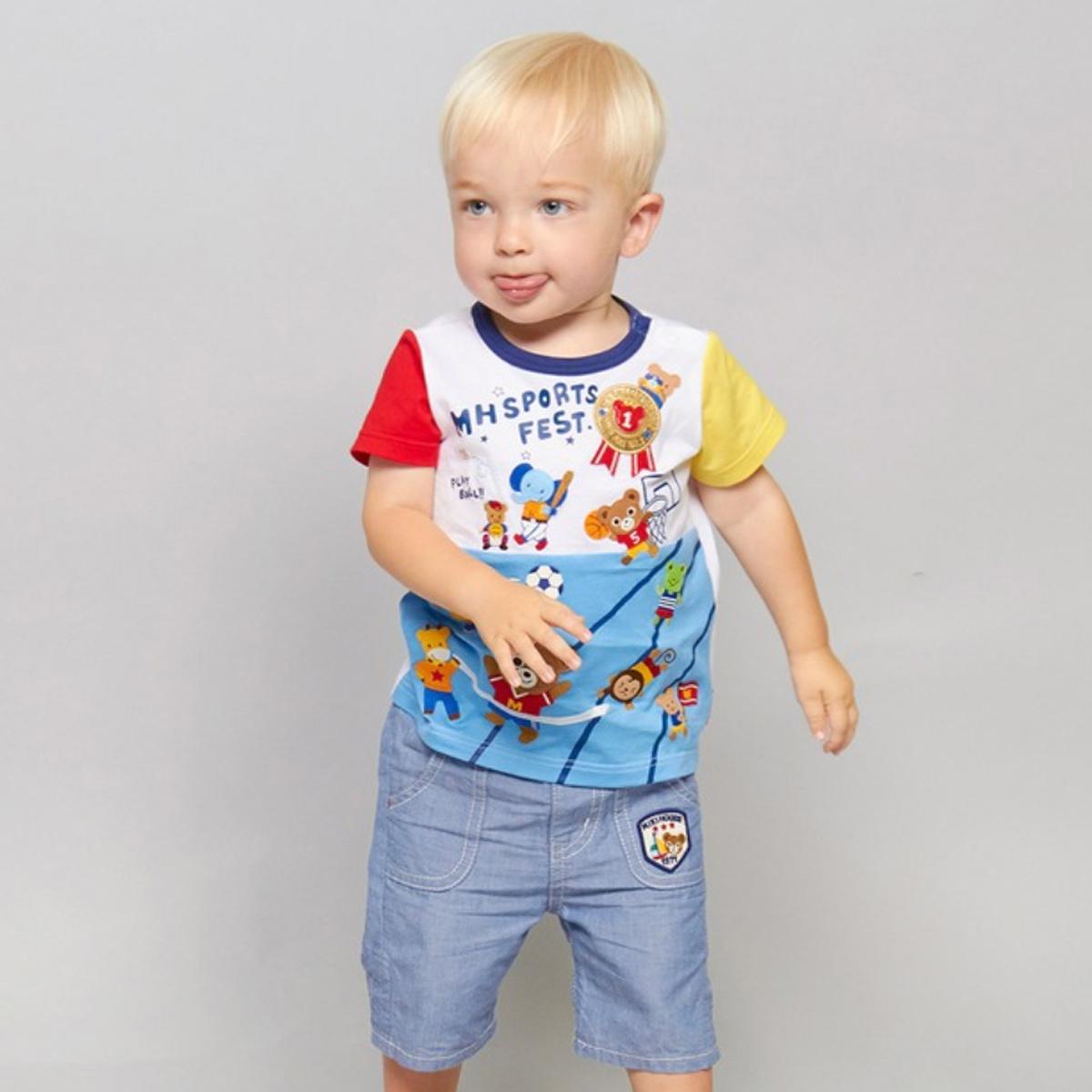 【MIKIHOUSE ミキハウス】ベースボール半袖Tシャツ(80cm・90cm・100cm)