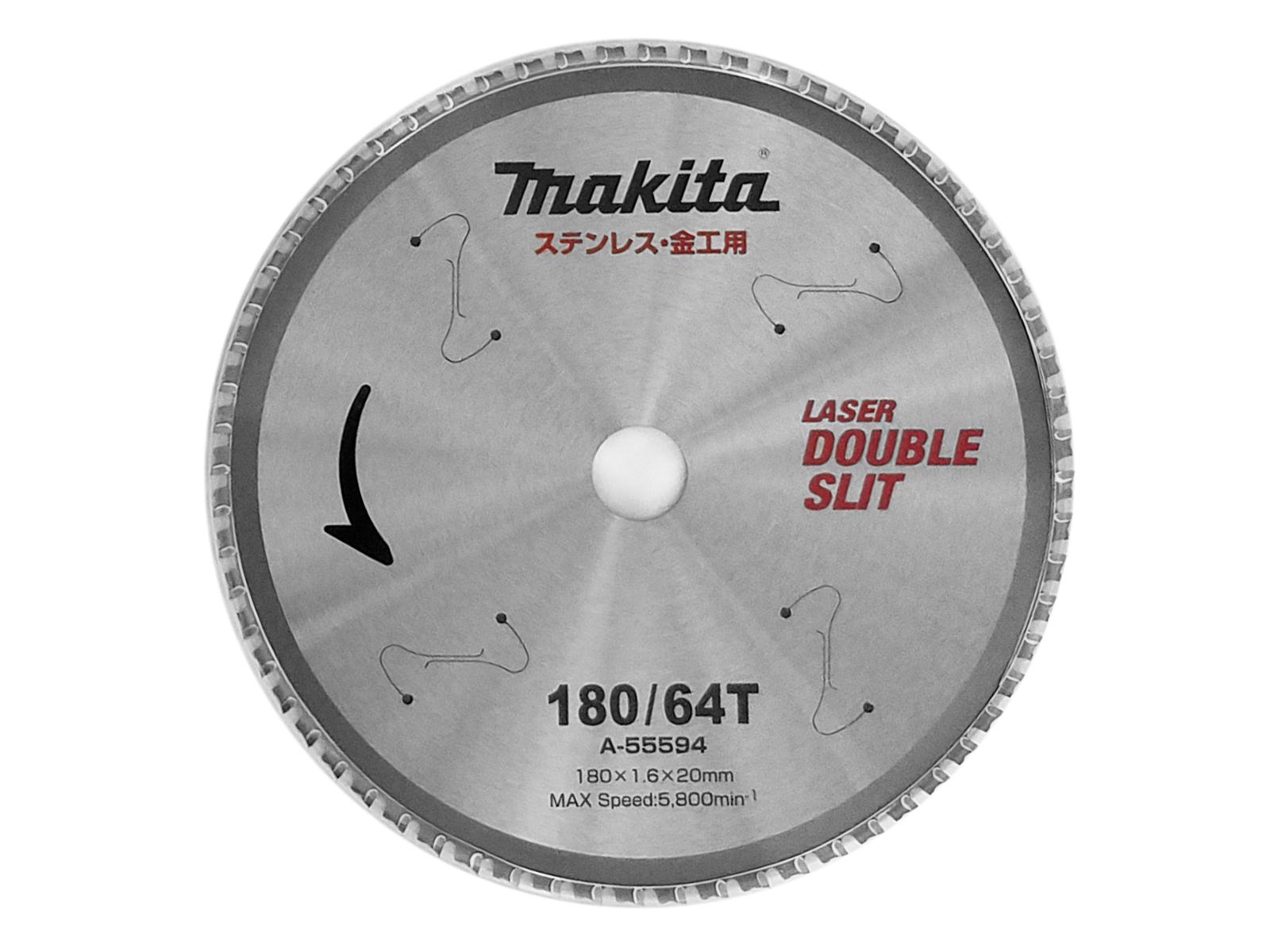 マキタ レーザースリットチップソー 売却 A-55594 ステンレス 180mm×64P 人気 おすすめ 金工用