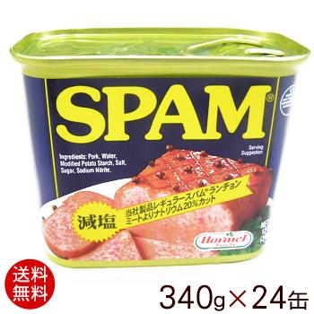 【送料無料】スパムSPAM 減塩(1ケース/24缶) │ポーク缶詰│