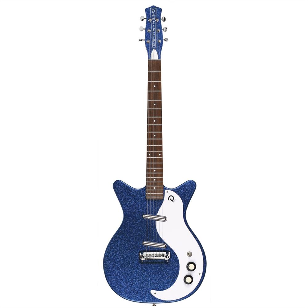 DANELECTRO 59M NOS+ METALFLAKE BLUE