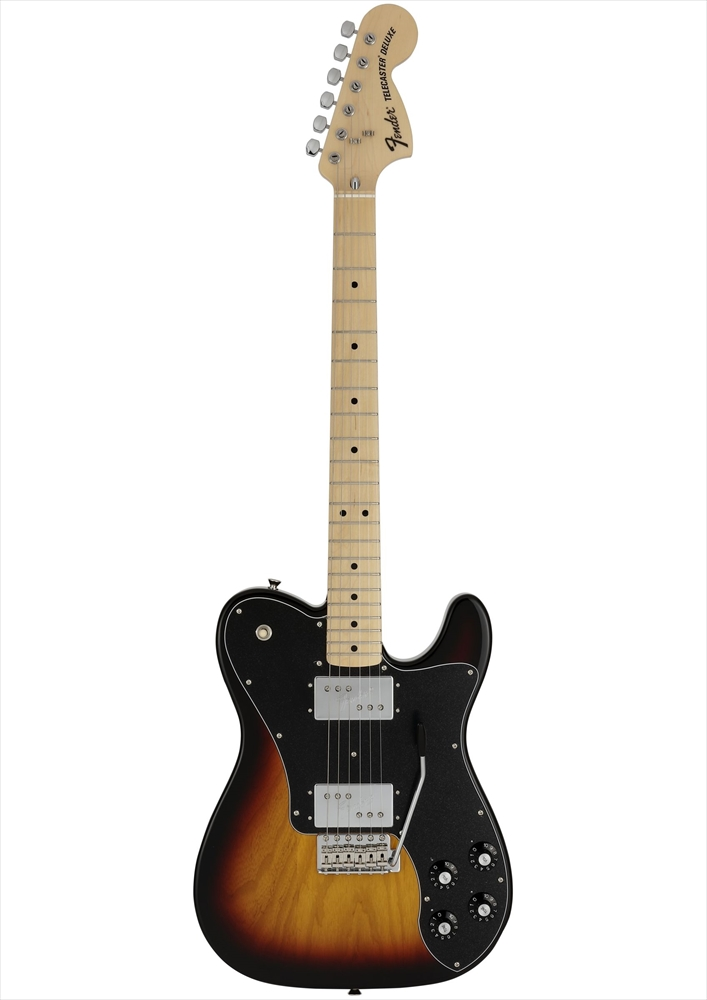 Fender Made in Japan Limited 70s Telecaster Deluxe, with Tremolo, Maple Fingerboard, 3-Color Sunburst
