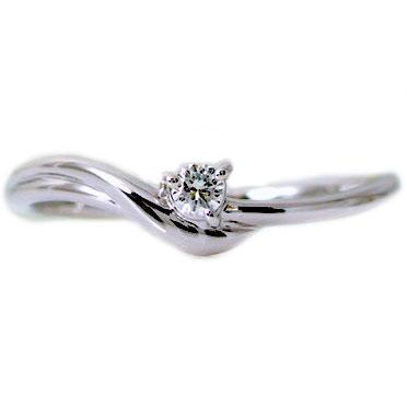ダイヤモンドリング ピンキーリング ダイヤモンド ホワイトゴールドk18 指輪 K18wgダイヤ 0.05ct レディースジュエリー プレゼントに【送料無料】