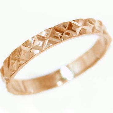 人気の定番 送料無料 卓抜 結婚指輪 マリッジリング ピンクゴールドk10 ダイヤカット加工 キラキラ輝く ダイヤカット指輪 ペアリング K10pg 指輪