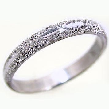 ホワイトゴールドk18 スターダスト加工 ペアリング 結婚指輪 ピンキーリングにおすすめ K18wg 指輪