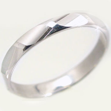 結婚指輪 マリッジリング ホワイトゴールドk10 ダイヤカット加工 ペアリング K10wg 指輪