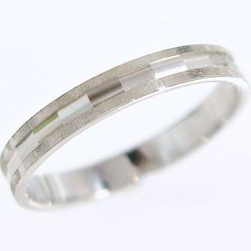 プラチナリング ダイヤカット加工 ペアリング 結婚指輪 ピンキーリングにおすすめ Pt900 指輪【送料無料】