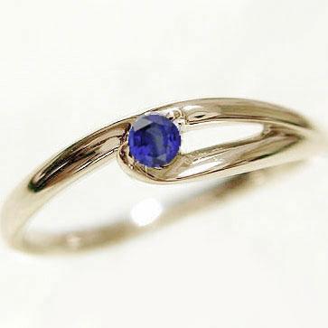 指輪:サファイヤリング:イエローゴールドk10:ピンキーリング/K10:天然サファイヤ:9月誕生石【送料無料】