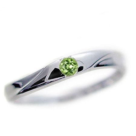 選べる 誕生石 リング ホワイトゴールドk18 天然石 宝石 カラーストーン 指輪 K18wg【送料無料】