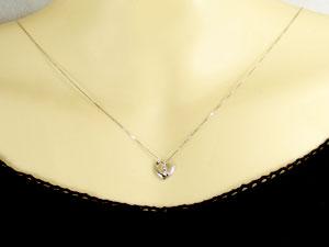オープンハート ダイヤモンド ネックレス プラチナ900 ハートネックレス ペンダント Pt900 ダイヤ 0 03ct 送料無料nN8vmw0