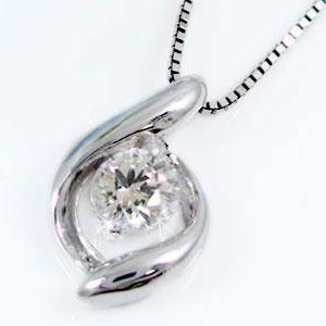 一粒 ダイヤモンド ネックレス ホワイトゴールドk18 ペンダント K18WG ネックレスダイヤ 0.10ct【送料無料】