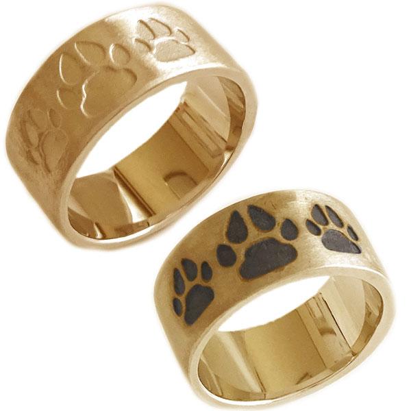 イヌの肉球デザイン ペアリング ピンクゴールドk10 結婚指輪 マリッジリング  ピンクゴールド K10 ペアリング イヌの肉球 結婚指輪 マリッジリング ペア2本セット K10pg 指輪【送料無料】
