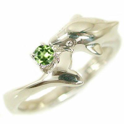 ハワイアンジュエリー ドルフィン リング イエローゴールドk10 天然石 宝石 カラーストーン 指輪 選べる誕生石 K10yg イルカ【送料無料】
