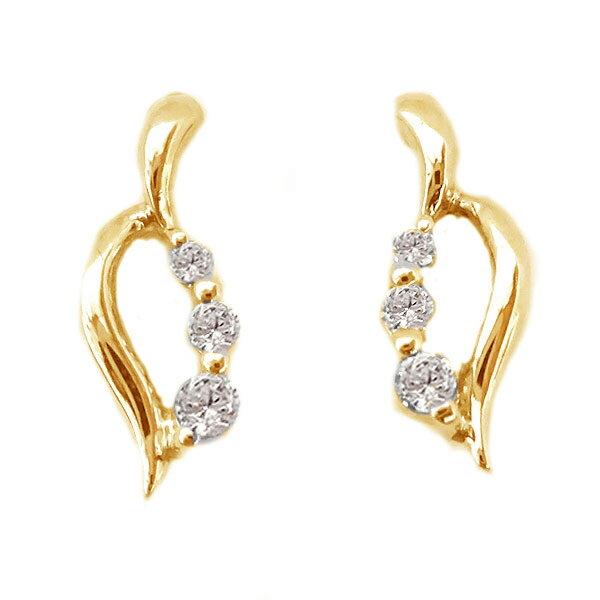 ダイヤモンドピアス ピンクゴールドk18 贈り物プレゼントとしてオススメ ダイヤモンド ピアス 予約販売品 ピンクゴールド K18 市場 送料無料 ダイヤ K18pg ダイヤピアス 0.06ct