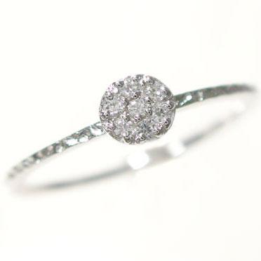 指輪:プラチナ/7粒ダイヤモンドリング/ピンキーリングとしてもおすすめ/ダイヤリング:Pt900指輪ダイヤ0.08ct【送料無料】