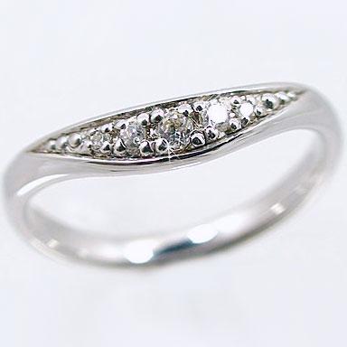 やわらかいラインの 使い勝手の良い V字 ダイヤモンドリング ホワイトゴールドk18 プレゼントに 記念日に K18wg指輪ダイヤ SALENEW大人気 ダイヤリング 0.05ct 送料無料 指輪 ピンキーリングにおすすめのV字