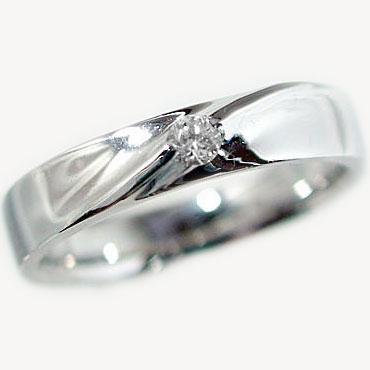 送料無料!指輪:ダイヤモンドリング:ホワイトゴールドk18/ボリュームたっぷりのピンキーリングとしても/ダイヤリング:K18wg指輪ダイヤ0.07ct