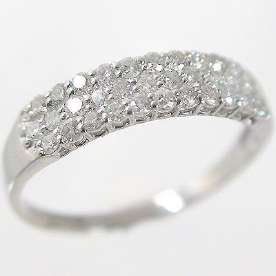 指輪 プラチナ パヴェリング ダイヤモンド 0.5カラット 婚約指輪 結婚記念日 プレゼントにおすすめ Pt900 指輪 ダイヤ 0.5ct【送料無料】