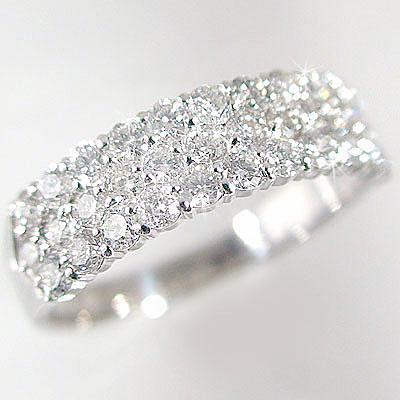 指輪 プラチナ パヴェリング ダイヤモンド 1.0ct 婚約指輪 結婚記念日 プレゼントにおすすめ Pt900 指輪 ダイヤ 1ct【送料無料】