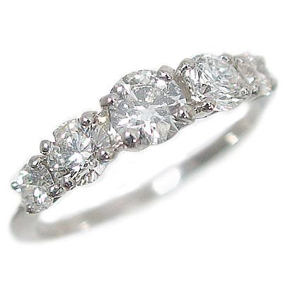 ダイヤモンド リング プラチナ900 レディース トータル 1.0ct 婚約指輪 Pt900 指輪 ダイヤ 1ct エンゲージリング【送料無料】