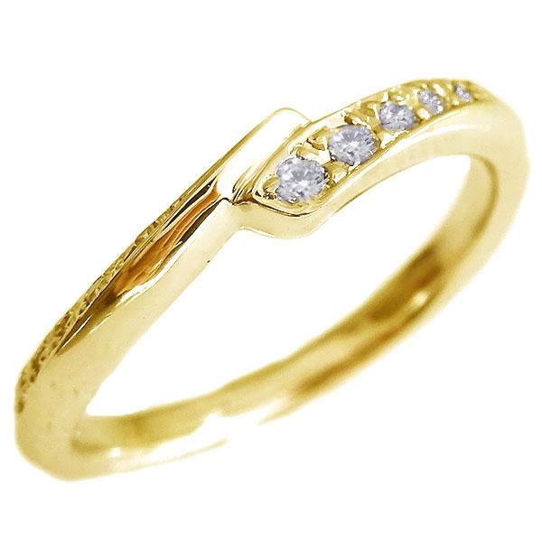 ダイヤモンド リング ゴールド K18 ダイヤ 10石 0.09ct K18yg【送料無料】