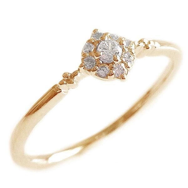 贈呈 シンプル 正規逆輸入品 ダイヤモンドリング ピンクゴールドk10 ダイヤモンド リング ピンクゴールド 送料無料 K10pg K10 ダイヤ 0.09ct