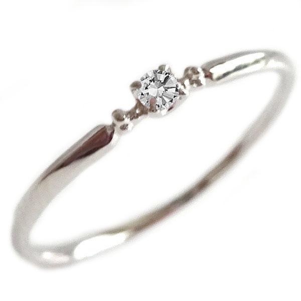 ダイヤモンド リング ホワイトゴールド K18 ダイヤ 0.03ct K18wg【送料無料】