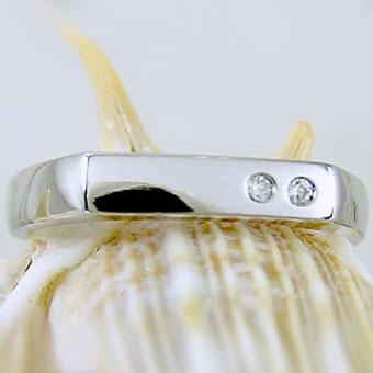 指輪 ダイヤモンド リング ホワイトゴールドk10 K10wg ダイヤ 0.02ct【送料無料】