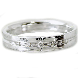 指輪:プラチナリング:クロスデザイン:ピンキーリング:ダイヤモンド/Pt900指輪ダイヤモンド0.05ct【送料無料】