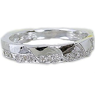ダイヤモンドリング:プラチナ900/ピンキーリングにもおすすめ/Pt900指輪ダイヤ0.1ct【送料無料】