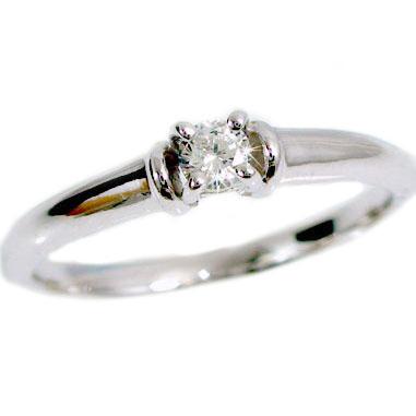 一粒 ダイヤモンドリング プラチナ900 ダイヤモンド ピンキーリング Pt900 指輪 ダイヤ 0.1ct【送料無料】