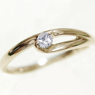 一粒 ダイヤモンドリング:イエローゴールドk10/ピンキーリング/k10 指輪 ダイヤモンド:0.07ct【送料無料】