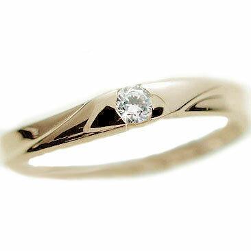 ダイヤモンド:イエローゴールドk10:ピンキーリング/一粒ダイヤモンド/k10 指輪ダイヤ 0.07ct【送料無料】