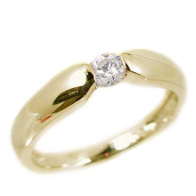 ダイヤモンド:ピンキーリング:イエローゴールドk18/一粒ダイヤモンド/K18 指輪 ダイヤ 0.07ct【送料無料】