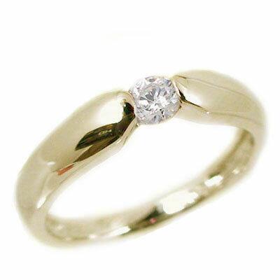 ダイヤモンド:イエローゴールドk10:ピンキーリング/一粒ダイヤモンド/k10 指輪 ダイヤ 0.07ct【送料無料】
