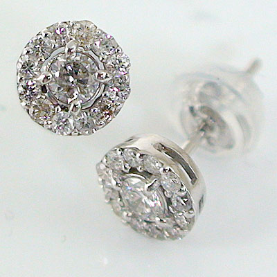 SS White Ice .06ct Diamond Crossover Earrings One Size