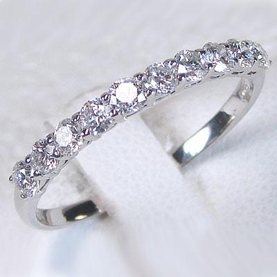 ハーフエタニティーリング プラチナ900 ダイヤモンドリング 一文字指輪 SIクラスダイヤモンド使用 Pt900指輪ダイヤ0.50ct レディース 結婚記念日 婚約指輪に【送料無料】