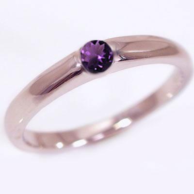 誕生石 リング ピンクゴールドk10 天然石 宝石 カラーストーン 指輪 選べる誕生石 K10pg【送料無料】