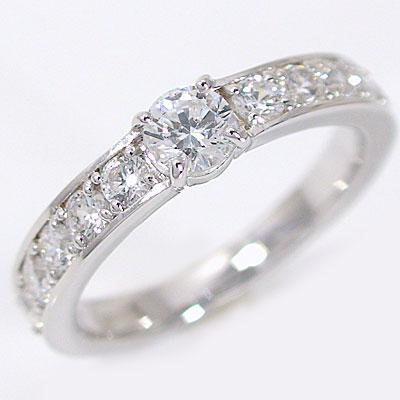 【匠の技】婚約指輪:エンゲージリング:ダイヤモンド:0.3ct/E-VVS1-3EX,H&C:鑑定書付:指輪:プラチナ900:脇ダイヤ0.6ct/PT900ダイヤ指輪【送料無料】
