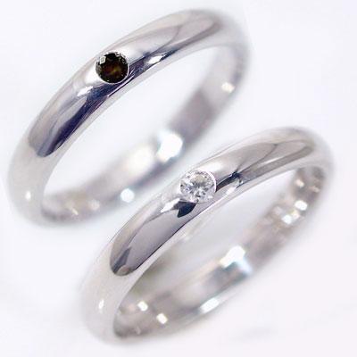 ペアリング ホワイトゴールドk18 結婚指輪 期間限定の激安セール マリッジリング 2本セット 贈り物 日本最大級の品揃え プレゼントにオススメ 送料無料 K18wg ブラックダイヤ 0.02ct ペア ダイヤモンド 甲丸ストレートライン 指輪 ダイヤ