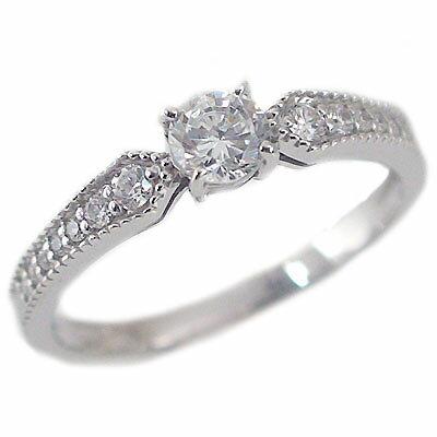 婚約指輪 エンゲージリング ダイヤモンド 0.3ct D VS1 3EX H&C 鑑定書付 指輪 プラチナ900 脇ダイヤ 0.14ct PT900 ダイヤ指輪【送料無料】