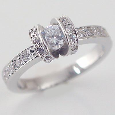 婚約指輪 エンゲージリング ダイヤモンド 0.3ct D VVS1 3EX H&C 鑑定書付 指輪 プラチナ900 脇ダイヤ 0.34ct PT900 ダイヤ指輪【送料無料】
