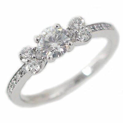 【匠の技】婚約指輪 プラチナ エンゲージリング ダイヤモンド 0.4ct F VVS1 Excellent 鑑定書付 脇ダイヤ 0.22ct ダイヤリング Pt900【送料無料】