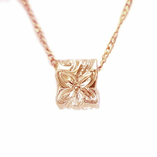Ma38 The Hawaiian Jewelry Men Pendant Necklace Pink Gold K18 Baby
