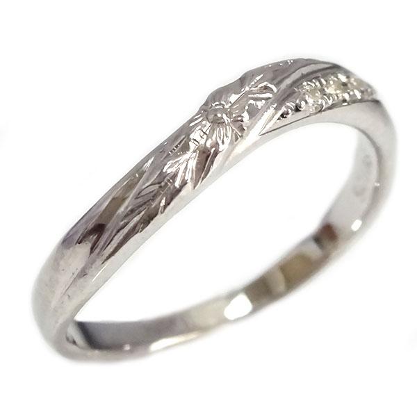 ハワイアンジュエリー リング プラチナ900 ダイヤモンド 指輪 Pt900 プルメリア【送料無料】