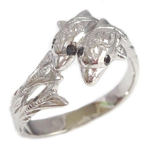 ハワイアンジュエリー ドルフィンリング ホワイトゴールドk10 幸福をもたらすイルカデザイン 定価 贈り物プレゼントとしてオススメ いよいよ人気ブランド ホワイトゴールド K10wg K10 ブラックダイヤ イルカ 指輪 送料無料