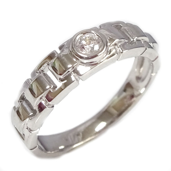 一粒 ダイヤモンド リング ホワイトゴールド K18 レディース メンズ 指輪 K18wg【送料無料】