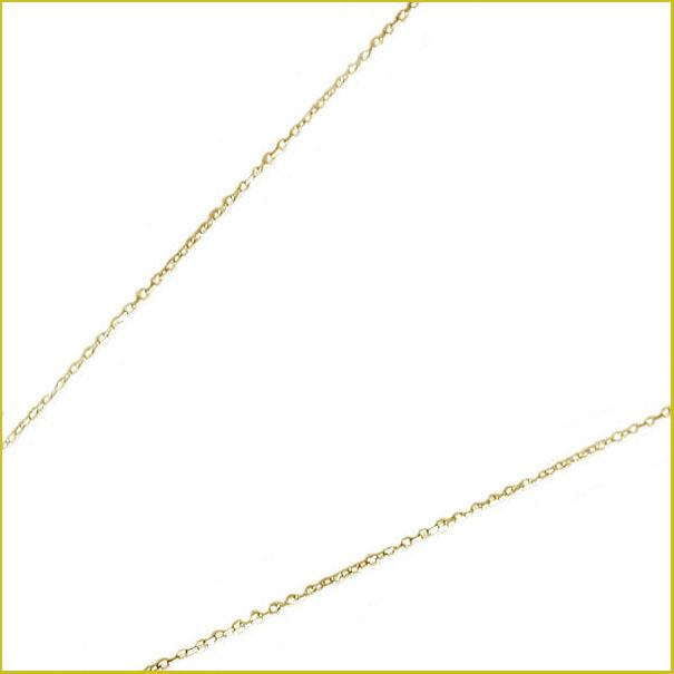 ネックレス イエローゴールドk18 角アズキチェーン レディース 40cm 地金ネックレス 18金 【送料無料】