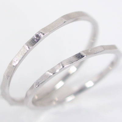 ペアリング 結婚指輪 マリッジリング ホワイトゴールドk18 ペア 2本セット K18wg 指輪 ストレート