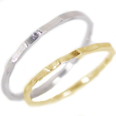 ペアリング:結婚指輪:マリッジリング:イエローゴールド/ホワイトゴールドk18:ペア2本セット/K18指輪