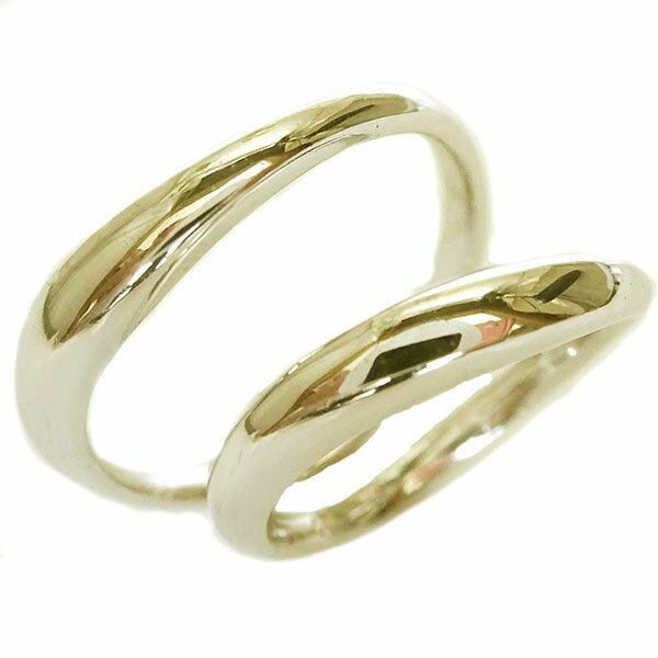 ゴールドk10 ペアリング 結婚指輪 マリッジリング ペア2本セット K10【送料無料】